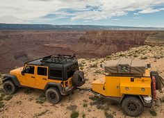 Going for an adventure? Trailers are a must! Get the best and the most affordable small camping trailers, jeep trailers, pop up trailer now! Call us Expedition Trailer, Overland Trailer, Expedition Vehicle, Off Road Camping, Jeep Camping, Camping Tips, Small Camping Trailer, Camping Trailers, Travel Trailers