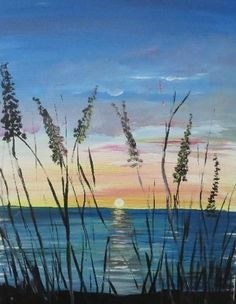 Learn to Paint Morning Sun tonight at Paint Nite! Night Painting, Art Painting, Beach Painting, Art Projects, Painting Inspiration, Painting, Art, Canvas Art, Canvas Painting