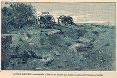 emplazamiento de la Artilleria del Ejercito de Chile en Placilla, agosto 20 de 1891 | por santiagonostalgico