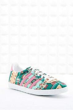 reputable site c68fe e8215 Adidas X The Farm Company Gazelle Floralina Trainers in Pink Baskets Gazelle,  Childrens Shoes,