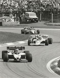 AUSTRIAN GP 1984 #1 BRABHAM BT53 NELSON PIQUET ORIGINAL PERIOD PHOTOGRAPH F1 2ND