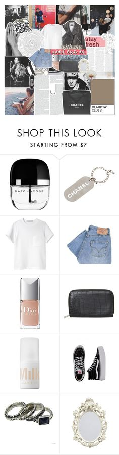 """""""an image of you flickers in my head"""" by kristen-gregory-sexy-sports-babe ❤ liked on Polyvore featuring Marc Jacobs, Chanel, Proenza Schouler, Levi's, Christian Dior, Monki, MILK MAKEUP, Vans and BOTB3"""