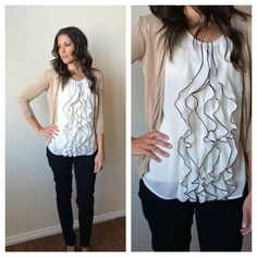 Perfect for SPRING Sleeveless Ruffle Front Top | Jane