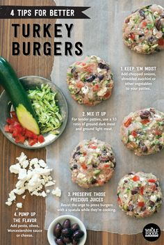 4 Tips for a Better Turkey Burger // Make sure you don't overcook your turkey... We make it simple with these easy steps.