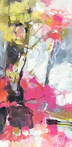 Joy!, acrylic abstract flower painting by Becky Holuk | Effusion Art Gallery + Glass Studio, Invermere BC Flower Paintings, Abstract Paintings, Abstract Art, Tulip Painting, Lake Painting, Canadian Art, Abstract Flowers, Texture Art, Art Gallery