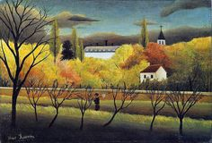 Henri Rousseau: Landscape with farmer (1896)