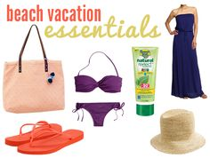 Beach Vacation Essentials: I'm going to try really, really hard to keep it this simple next time!