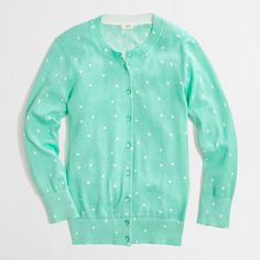 Clare cardigan in scattered dot