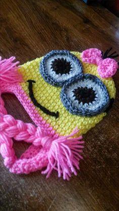Minion Hat Two Eyed Crochet Minion Hat by MyLittleHeartStrings, $16.00