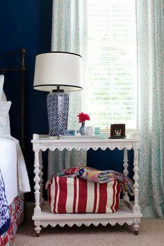 styling: i suwannee: a week of design - a bold blue bedroom