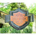 Harley-Davidson Wind Spinners   eBay Image 1 AWESOME NEW LG HARLEY DAVIDSON LOGO WIND & SUN SPINNER