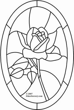 B Stained Glass Pattern: Red Rose in Oval would make a neat painting Stained Glass Quilt, Stained Glass Flowers, Faux Stained Glass, Stained Glass Projects, Stained Glass Patterns Free, Stained Glass Designs, Mosaic Patterns, Glass Painting Patterns, Applique Patterns