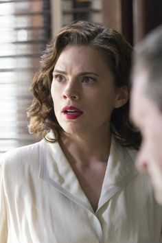 Marvel has released 22 hi-res promotional photos from next week's episode of Agent Carter and things aren't looking good for Peggy Carter and Jarvis as they come under fire from everyone at the SSR. Peggy Carter, Agent Carter, Hayley Atwell, Hayley Elizabeth Atwell, Marvel Women, Marvel Heroes, Marvel Characters, Marvel Girls, Marvel Photo