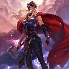 #Thor by Moonriot on #Tumblr by thegeekrealm