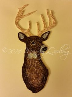 This handsome quilled whitetail deer is part of Mainely Quilling's animal collection.
