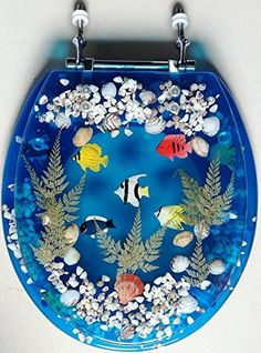 Unique Clear Acrylic Toilet Seat With Sea Shells
