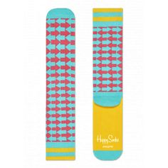 Go the distance with a pair of athletic socks! Supportive, comfy and stylish, these socks were designed for movement. Whether you're shooting hoops or riding a bike, your feet will appreciate the light compression, arch support and cushioned soles these socks provide. If you're looking for a fun and bright pattern, this blue, pink and yellow arrow design will point you in the right direction. Several sizes are available.