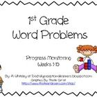 This First grade Word Problems is for math progress monitoring. In this packet you will find, 20 1st grade word problems.