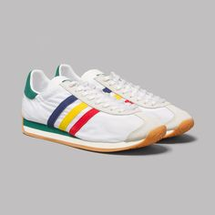 adidas MCN Country KZK 84-Lab in White / Red / Chalk White