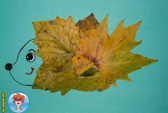 Egeltje van herfstbladeren – knutselen