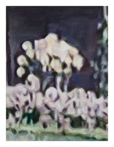 """Fine art print of original oil painting by artist Zachary Roberts, Black and grey neutral colors print, Portrait format """"Potsdam Flower"""""""