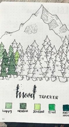 Mood Tracker - Bullet Journal Ideas (BuJo Inspiration)