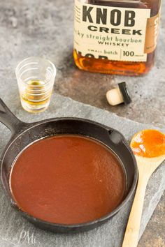 Bourbon Barbeque Sauce Recipe, Apricot Bbq Sauce Recipe, Homemade Bbq Sauce Recipe, Bourbon Recipes, Barbecue Sauce Recipes, Bbq Sauces, Bourbon Sauce, Smoker Recipes, Whisky