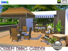 Lana CC Finds - Osrium Dining Garden by jomsims