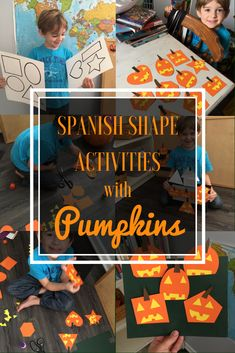 Learn Shapes in Spanish with Pumpkins