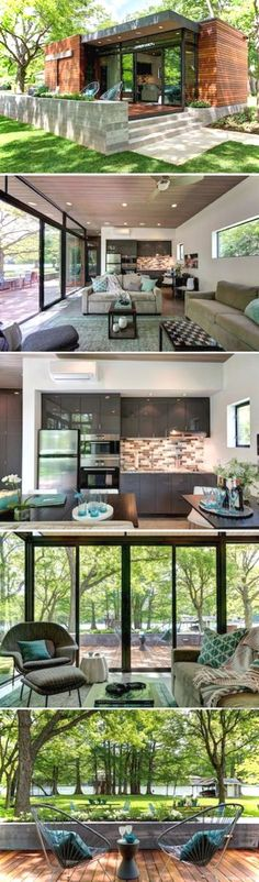 Container House The Cousin Cabana: a 480 sq ft cabin near Austin, Texas, designed for visiting friends and family Who Else Wants Simple Step-By-Step Plans To Design And Build A Container Home From Scratch? Building A Container Home, Container House Design, Tiny House Design, Garden Container, Container Home Plans, Glass House Design, Wooden House Design, Small House Interior Design, Storage Container Homes