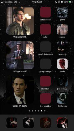 Ios Design, Iphone Design, Vampire Diaries Cast, Vampire Diaries The Originals, Google Hangouts, Ios App, Homescreen, Nerd, It Cast