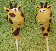 Sophie Giraffe cake pops