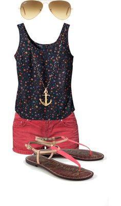 love it and I have this shirt so off to look for shorts like these. could dye my white ones too. Summertime ♥ !