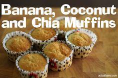 RECIPE: Banana, Coconut and Chia Muffins  #thermomix