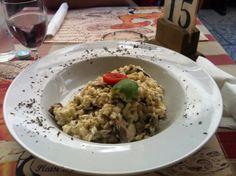 Wild mushroom risotto   Croatian food   Croatian risotto