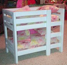 wooden doll bunk beds   Doll Bunk Beds   Do It Yourself Home Projects from Ana White
