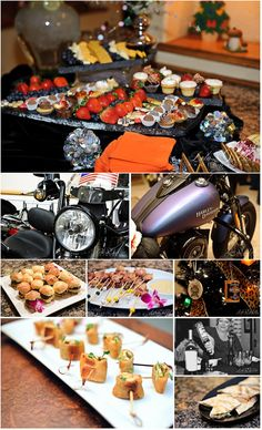 A Harley Davidson themed Christmas party --- perfect!