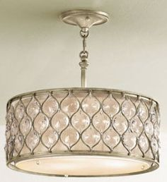 I Love this lighting by Feiss Lucia collection. I want something romantic but not over the top for my small master bedroom redo.