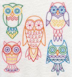 Owl Eyes on You (Vintage) design (K2100) from www.Emblibrary.com