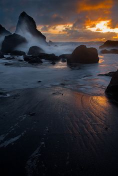 Luffenholtz Beach, Trinidad, California  By Clay Carey