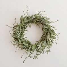 DIY herbal wreath tutorial for Thanksgiving, Christmas, or all year - use on the wall, door, or the table