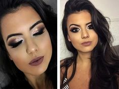 Ideas For Makeup Morenas Festival Eyebrow Makeup, Makeup Eyeshadow, Beauty Makeup, Hair Makeup, Lip Makeup Tutorial, Makeup Tutorial For Beginners, Bridal Makeup, Wedding Makeup, Korean Eyebrows