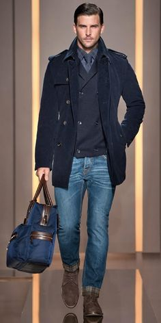 Fabulous jacket with jeans and tie plus the handbag