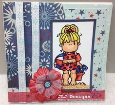 Beach-y by JLJ Designs - Cards and Paper Crafts at Splitcoaststampers  Bugaboo stamp