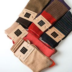 Branding and sustainable packaging for socks and scarfs company Knitted Bags, Knitted Blankets, Fashion Terminology, Sleeve Packaging, Fashion Packaging, Designer Socks, Baby Socks, Fashion Socks, Knitting Socks