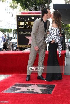 Keri Russell and Matthew Rhys attend a Ceremony Honoring Keri Russell With Star On The Hollywood Walk Of Fame on May 30, 2017 in Hollywood, California.