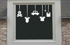 Een leuke sticker voor op het raam. Zo weet iedereen heel snel dat er een kindje geboren is.