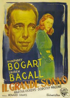 The Big Sleep Humphrey Bogart Vintage Movie Poster