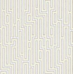 Fretwork (BW45007/1) - G P & J Baker Wallpapers - An homage to Art Deco, its architectural form is emphasised by a soft contrasting outline. Shown here in the taupe and cream outlined in a soft glossy gold.