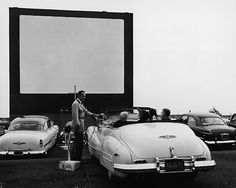 At the drive in, 1950s.